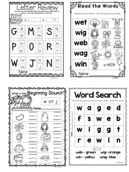 Orton-Gillingham, Letter Ww, PowerPoint with Student Engagment and Centers