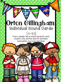 Orton-Gillingham Level 1 INDIVIDUAL Size Sound Cards (c-qu)