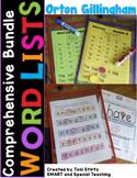 Orton Gillingham Word Lists Dyslexia Interventions Growing Bundle Levels 1 - 4