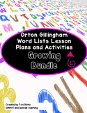 Orton Gillingham Word Lists Dyslexia Interventions Growing Bundle Levels 1 - 5
