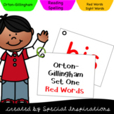 Orton-Gillingham Set 1 and 2 Red Words Flip Cards