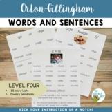 Orton Gillingham Level 4 Word Lists and Sentences