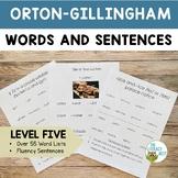 Orton Gillingham Materials Words and Sentences | Level Five