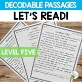 Orton-Gillingham Based Stories Level 5 Decodable Reading Passages