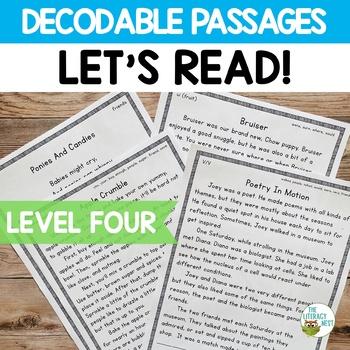 Orton-Gillingham Decodable Stories Reading Passages Level Four