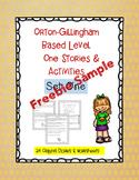 Orton- Gillingham Level One Story & Worksheet Freebie