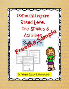 Orton- Gillingham Level One Story & Worksheet Freebie