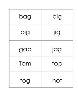Orton Gillingham Level One Word Drill Cards