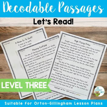 Orton-Gillingham Decodable Reading Passages Level Three