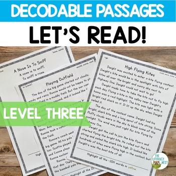 Orton-Gillingham Based Stories Level 3 Decodable Passages