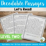 Orton-Gillingham Based Decodable Reading Passages Level 2 | Distance Learning