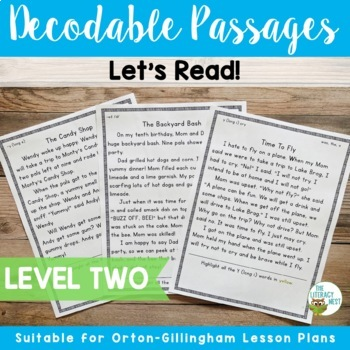 Orton-Gillingham Based Decodable Reading Passages Level 2   Distance Learning