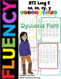Orton Gillingham Long E (ee, ea, ey, y)  Fluency RTI Dyslexia