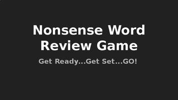 Orton Gillingham, Lower Level Phonics Nonsense Word Game