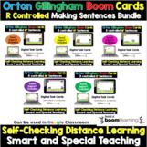 Orton Gillingham Making Sentences Boom Card R controlled Vowels Bundle RTI