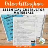 Orton-Gillingham Materials For Lesson Planning and Organization