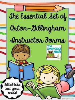 Orton-Gillingham Materials Editable
