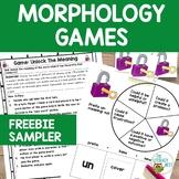 Orton-Gillingham Morphology Games FREEBIE