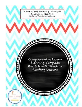 Orton-Gillingham Multisensory Reading Method Lesson Planning Template