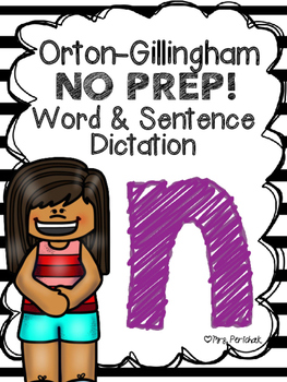 Orton-Gillingham NO PREP Word & Sentence Dictation (n)