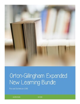 Orton-Gillingham New Learning Bundle
