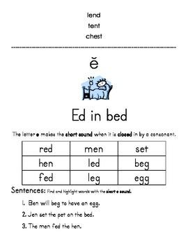 Orton-Gillingham New Learning for Short Vowels