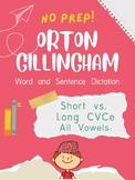 Orton-Gillingham OG Sentence and Word Dictation ALL Short