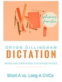 Orton-Gillingham OG Sentence and Word Dictation Short A Lo