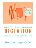 Orton-Gillingham OG Sentence and Word Dictation Short O Lo