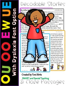 Orton-Gillingham OU OO UE EW  Decodable Stories Level 2 Unit 15 Intervention RTI