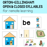 Orton-Gillingham Open/Closed Syllables for Google Classroo