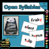 Orton-Gillingham Open Syllable Word Cards