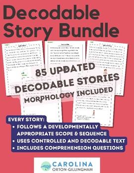 19 Decodable Phonics & Spelling Stories- Complements Orton Gillingham {Bundle!}