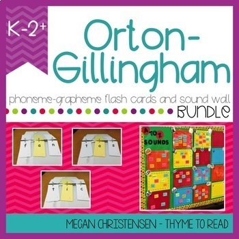 Orton Gillingham Phoneme Grapheme Bundle