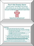 Don't Get Greedy Card Games- 9 Orton Gillingham Phonics/Reading/Spelling Games