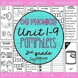 Orton Gillingham Phonics Pamphlets for the Entire Year 2nd grade Bundle