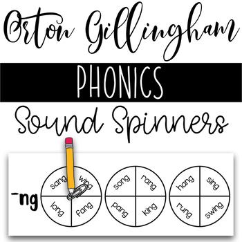 Orton Gillingham Phonics Sound Spinners Activity