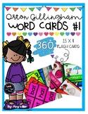 Orton Gillingham Phonics Word Cards [Flash Cards] Level 1