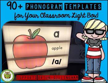 Orton-Gillingham Phonograms Light Box Templates