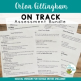 Orton-Gillingham: Assessment Level 1-5 Pre and Post Tests | Leveled Placement