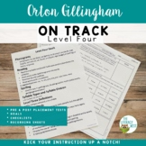 Orton-Gillingham Assessment Pre and Post Tests Leveled Placement LEVEL FOUR