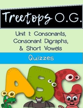Orton Gillingham Quizzes for consonants and short vowels