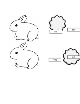 Orton Gillingham Rabbit Syllable Closed Syllable Sort