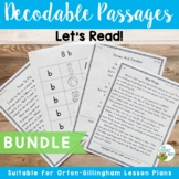 Orton-Gillingham Based Stories Level 1-5 Decodable Reading Passages