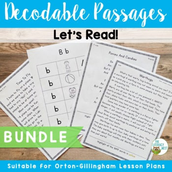 Orton-Gillingham Based Stories Level 1-5 Multisensory Reading Decodable Passages