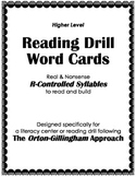 Orton-Gillingham Reading Drill: Syllable & Word Cards for R-Controlled Patterns