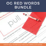 Orton Gillingham Red Word Bundle - Distance Learning Friendly