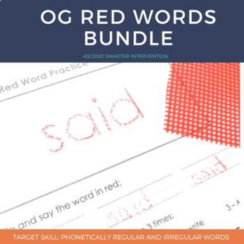 Orton Gillingham Red Word Bundle