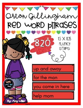 Orton Gillingham Red Word Phrases [Sight Word Fluency]