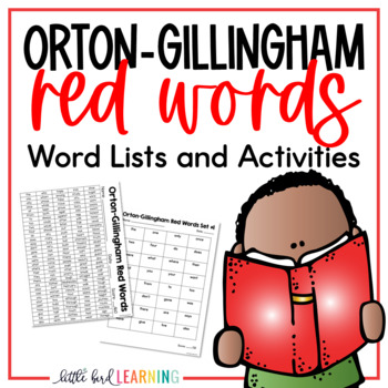 Orton-Gillingham Red Words FREEBIE